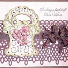 HCR Basket and Lace Card