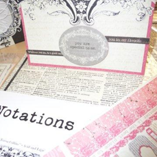 Notations Card Authentique Embellies