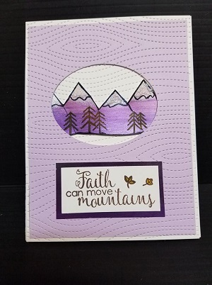 PME Purple Faith Card